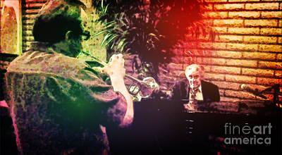 Digital Art - Jazz Musicians Having a Conversation by Richard Jones