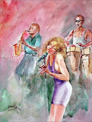 Painting - Jazz Nigths by Faruk Koksal