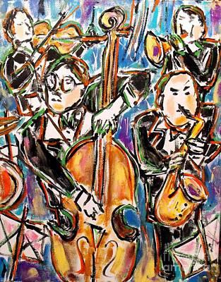 Drum Kit Painting - Jazz Quartet by Karen Sloan