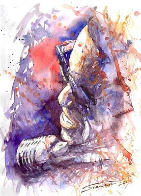 Jazz Ray Charles Art Print by Yuriy  Shevchuk