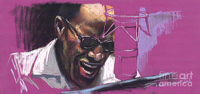 African-american Drawing - Jazz Ray by Yuriy  Shevchuk
