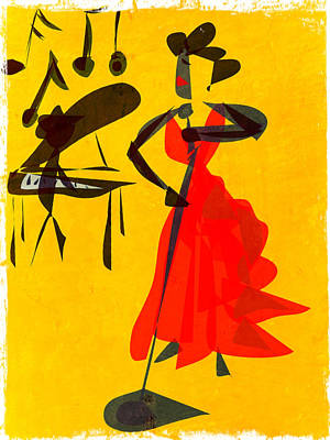 Jazz Review Art Print by Betsey Walker Culliton