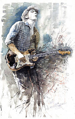 John Mayer Painting - Jazz Rock John Mayer 05  by Yuriy  Shevchuk
