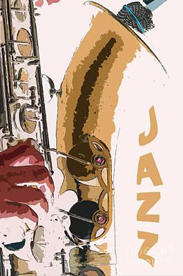 Saxophonist Photograph - Jazz Saxophone Illustration by Konstantin Sevostyanov