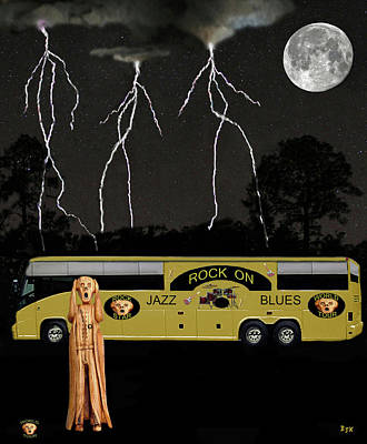 Mixed Media - Jazz Scream Tour by Eric Kempson