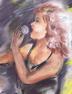 Painting - Jazz Singer by Marilyn Barton