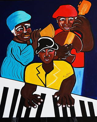 Jazz Sunshine Band Art Print by Nora Shepley