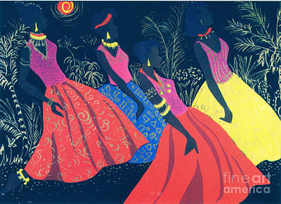 African Dancers Painting - Jazz Swaying by Aldonia Bailey
