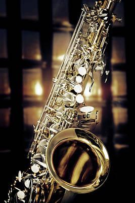 Photograph - Jazz Tenor Saxophone 3252.02 by M K Miller