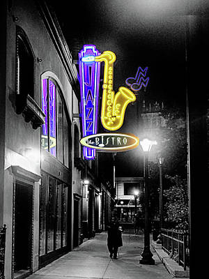 Photograph - Jazz The Bistro 2 by C H Apperson