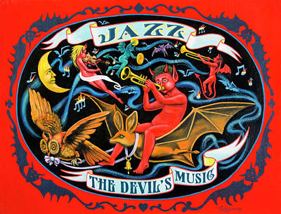 Juxtapose Painting - Jazz The Devil's Music by Molly McGuire