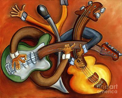 Jazz Trio Art Print by Joshua Matherne