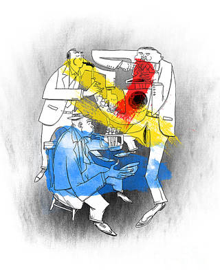 Jazz Trio Art Print by Sean Hagan