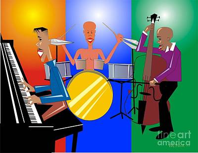 Jazz Trio Art Print by Walter Oliver Neal