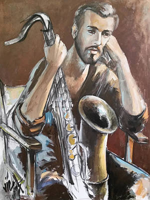 Jazz Art Print by Vali Irina Ciobanu