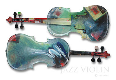 Jazz Painting - Jazz Violin - Poster by Tim Nyberg