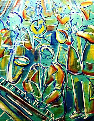 Painting - Jazz With The Blues by Karen Sloan