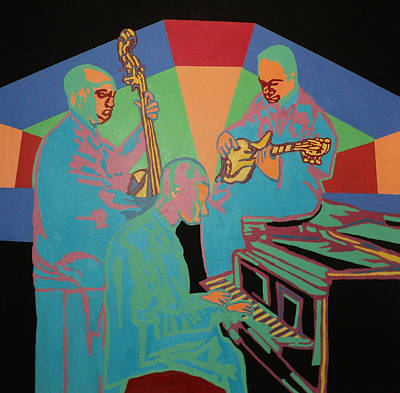 Painting - Jazzamatazz Band by Angelo Thomas