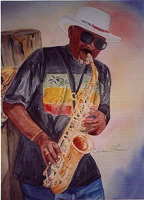 Jazzin' On The Boardwalk Art Print by Vivian Larson