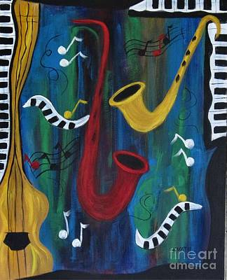 Painting - Jazzing It Up by Karen Day-Vath