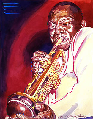 Trumpet Painting - Jazzman Cootie Williams by David Lloyd Glover