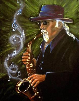 Jazzman Art Print by Terri Clements