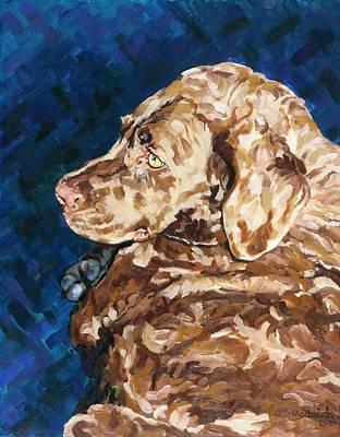 Painting - Jazzminnie Cocopupp by Phil Chadwick