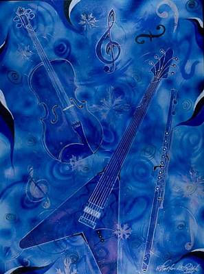 Jazzy And Icy Art Print by Shellton Tremble