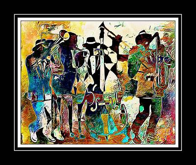 Digital Art - Jazzy Band by Lynda Payton