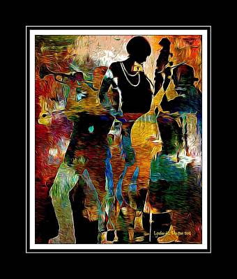 Digital Art - Jazzy Diva by Lynda Payton