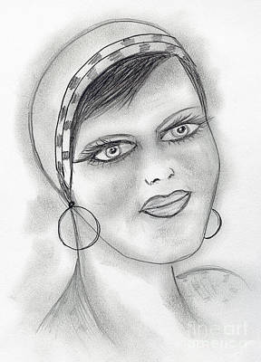 Drawing - Jazzy Flapper by Sonya Chalmers