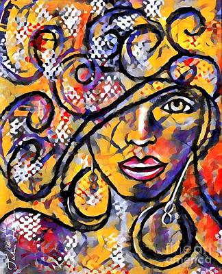 Painting - Jazzy by Julie Hoyle