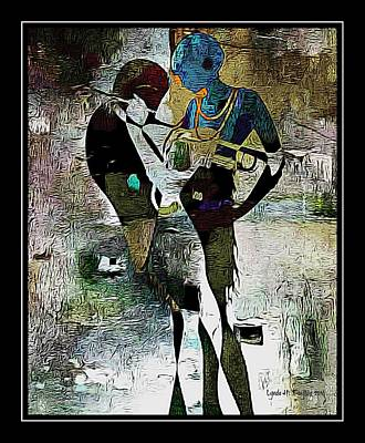 Digital Art - Jazzy Night 10 by Lynda Payton