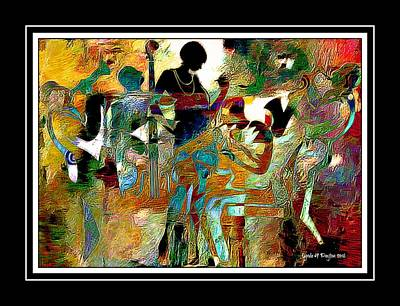 Digital Art - Jazzy Night 2 by Lynda Payton