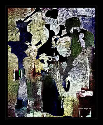 Digital Art - Jazzy Night 9 by Lynda Payton