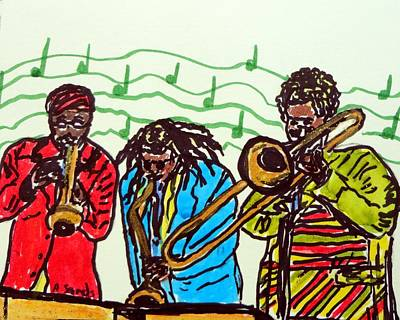 Painting - Jazzy Players by Anne Sands