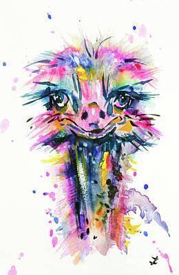 Painting - Jazzzy Ostrich by Zaira Dzhaubaeva