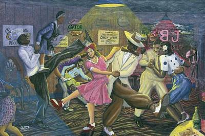 Lindy Painting - Jb's Jukejoint by James StClair