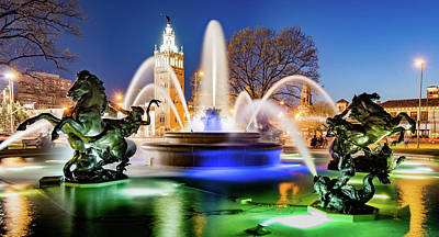 Photograph - J.c. Nichols Fountain And Kansas City Plaza by Gregory Ballos