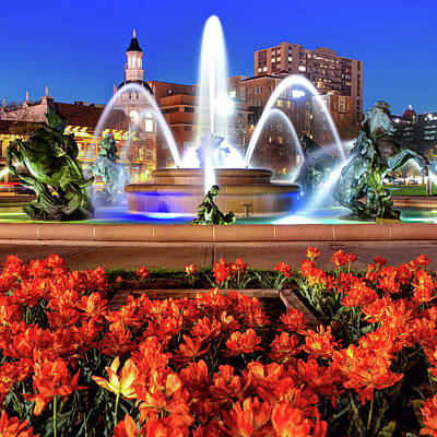 Royalty-Free and Rights-Managed Images -  J.C. Nichols Memorial Fountain - Kansas City MO - Square by Gregory Ballos
