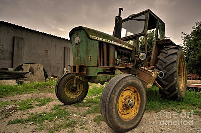 Spot Of Tea - Old Cornish Tractor  by Rob Hawkins