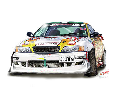 Painting - Jdm Drifter by Pat Godfrey
