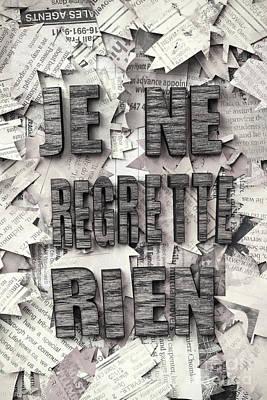 Photograph - Je Ne Regrette Rien by Igor Kislev
