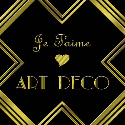 Digital Art - Je Taime Art Deco by Chuck Staley