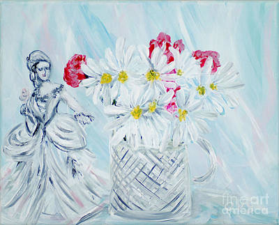 Painting - Je Vous Remerci. Thank You Collection by Oksana Semenchenko