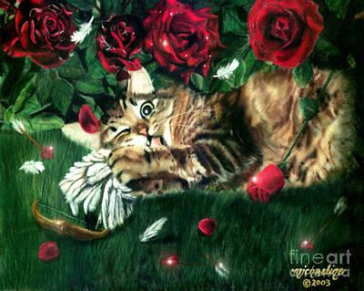 Pastel - Jealous Cat by Michaeline McDonald