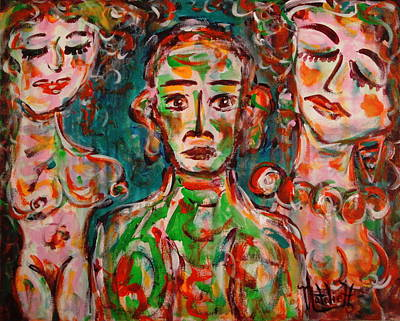 Outsider Art Painting - Jealousy 2 by Natalie Holland