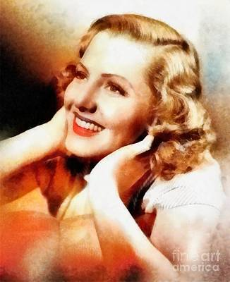 Musicians Royalty-Free and Rights-Managed Images - Jean Arthur, Vintage Hollywood Actress by Frank Falcon