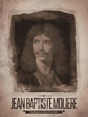 Author Digital Art - Jean Baptiste Moliere by Afterdarkness