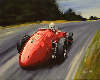 Painting - Jean Behra  Maserati 250f by Steve Jones